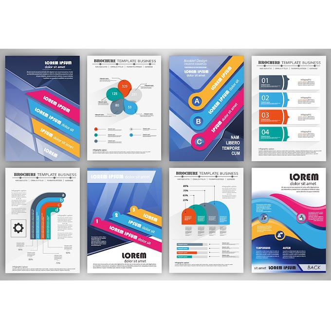 Infographic template Business brochure template with infographic elements free vector
