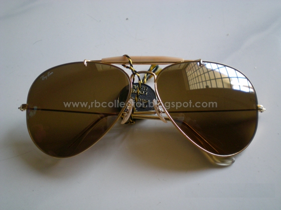 47760b2023 All About Rayban Made in USA  RAYBAN DRIVING SERIES MODEL L1634 YWBK FRAME  OUTDOORSMAN GOLD