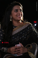 Actress Sri Divya Latest Pos in Black Saree at Sangili Bungili Kathava Thora Tamil Movie Audio Launch  0008.jpg