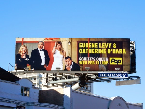 Schitt's Creek series premiere billboard
