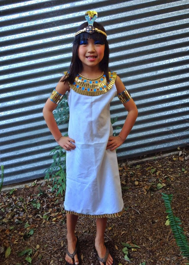 How To Make An Ancient Egypt Girl S Costume 2016 17 Miss Nellie S