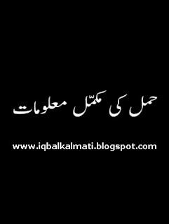 Knowledge About Pregnancy In Urdu