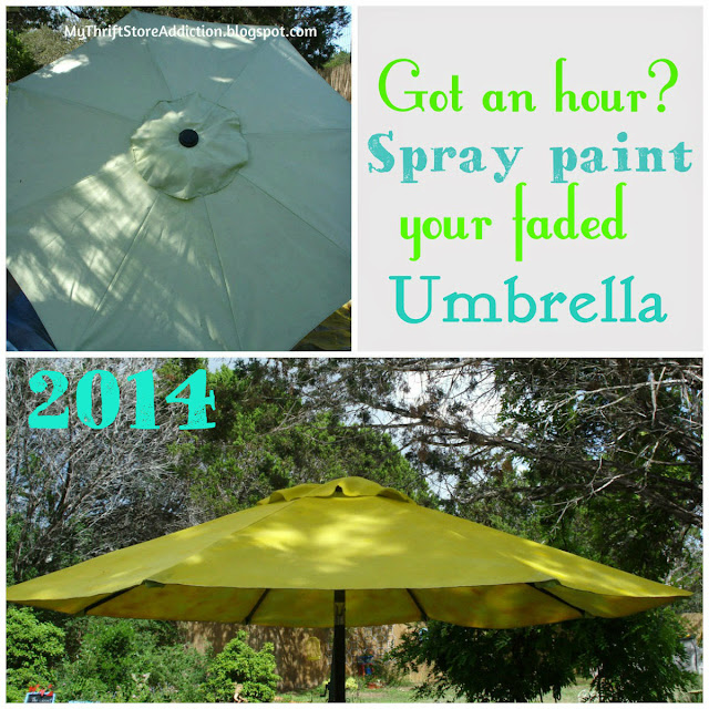 Upcycled DIY spray painted umbrella
