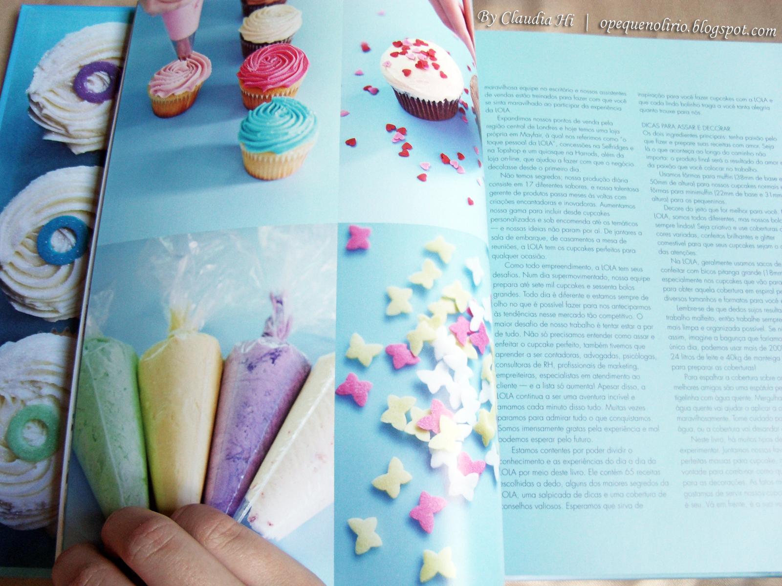 imagens Livro Fazendo Cupcakes com Lola