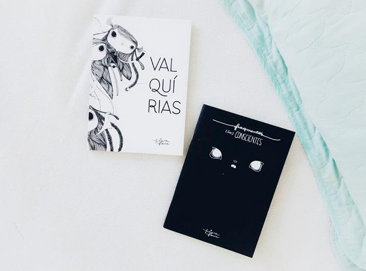 No ano passado ganhei um sorteio lindo que rolou no IG da Juliana Fiorese no Instagram um kit belíssimo de mimos feitos de ilustrações da Ju é junto com esse kit vieram três livros com ilustrações