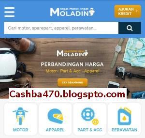 Panduan Cara Dan Proses Kredit Motor Online Di Moladin untuk mendapatkan Cashback dan promo menarik