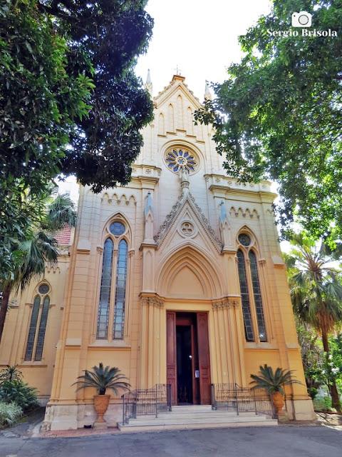 Fachada da Capela Nossa Senhora da Misericórdia da Santa Casa de São Paulo - Vila Buarque - São Paulo