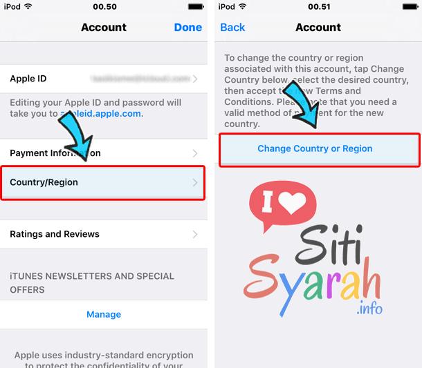 ganti country app store ke indonesia