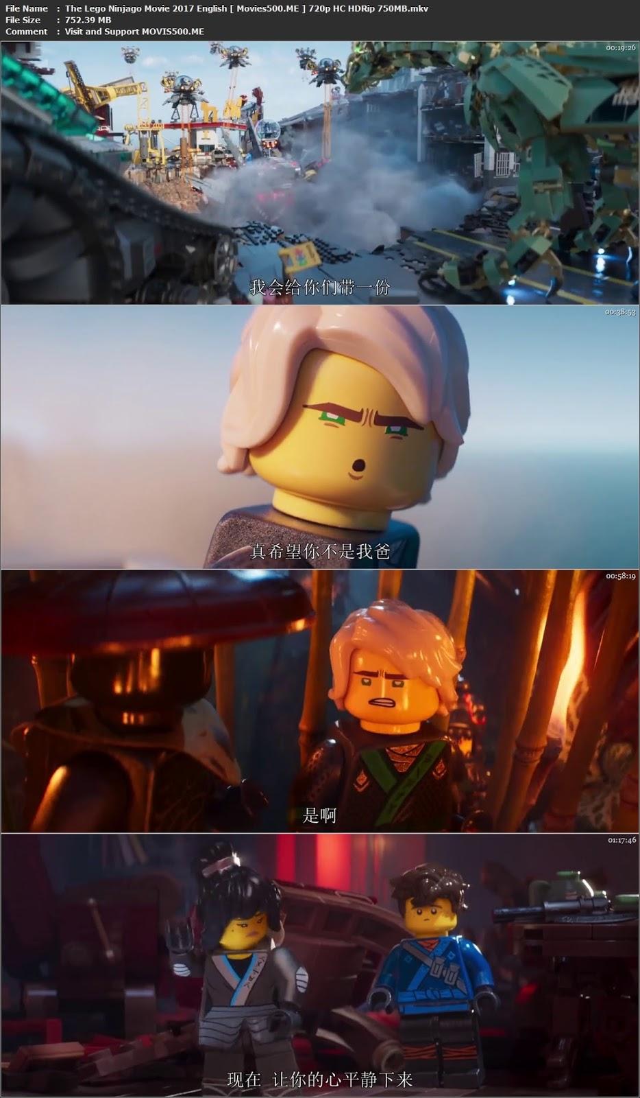 The Lego Ninjago Movie 2017 English 750MB HC HDRip 720p at movies500.site