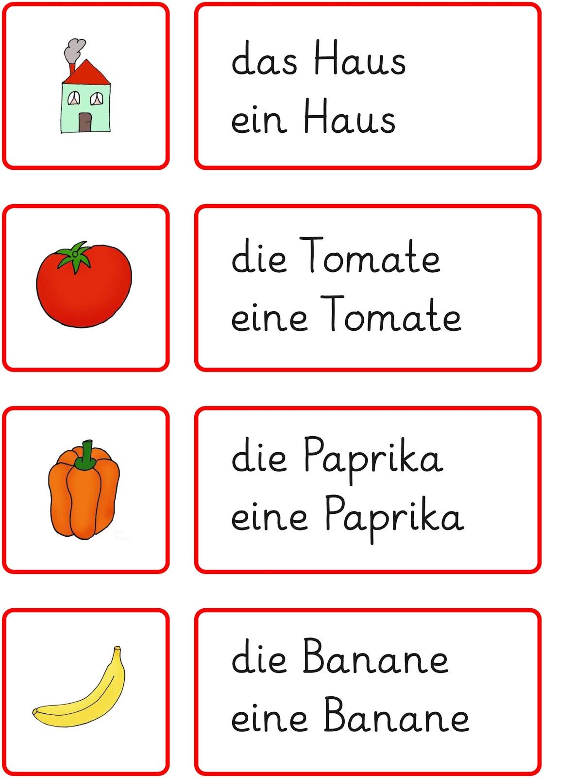 Wörter lesen das haus en haus deutsch lernen learn preschool karten