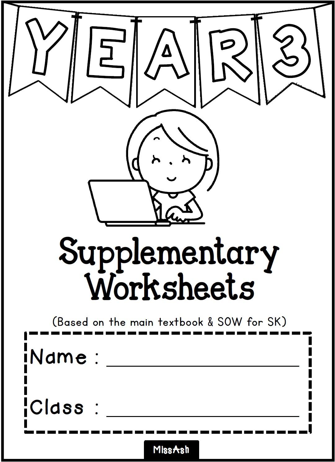 Ash The Teacher Year 3 Supplementary Worksheets