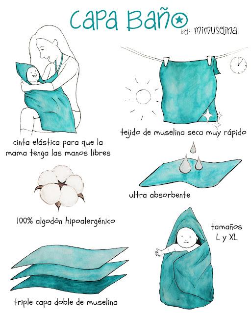 capa de baño muselina tejido algodon gasa mimuselina