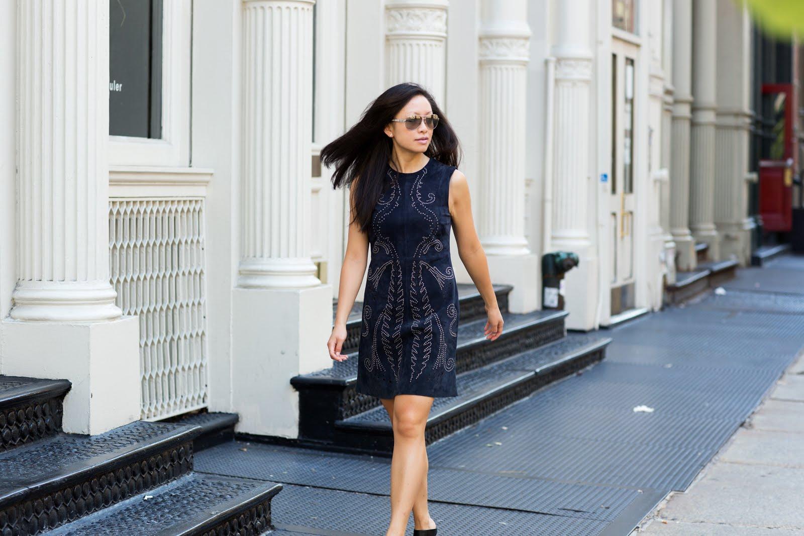 Zara suede shift dress