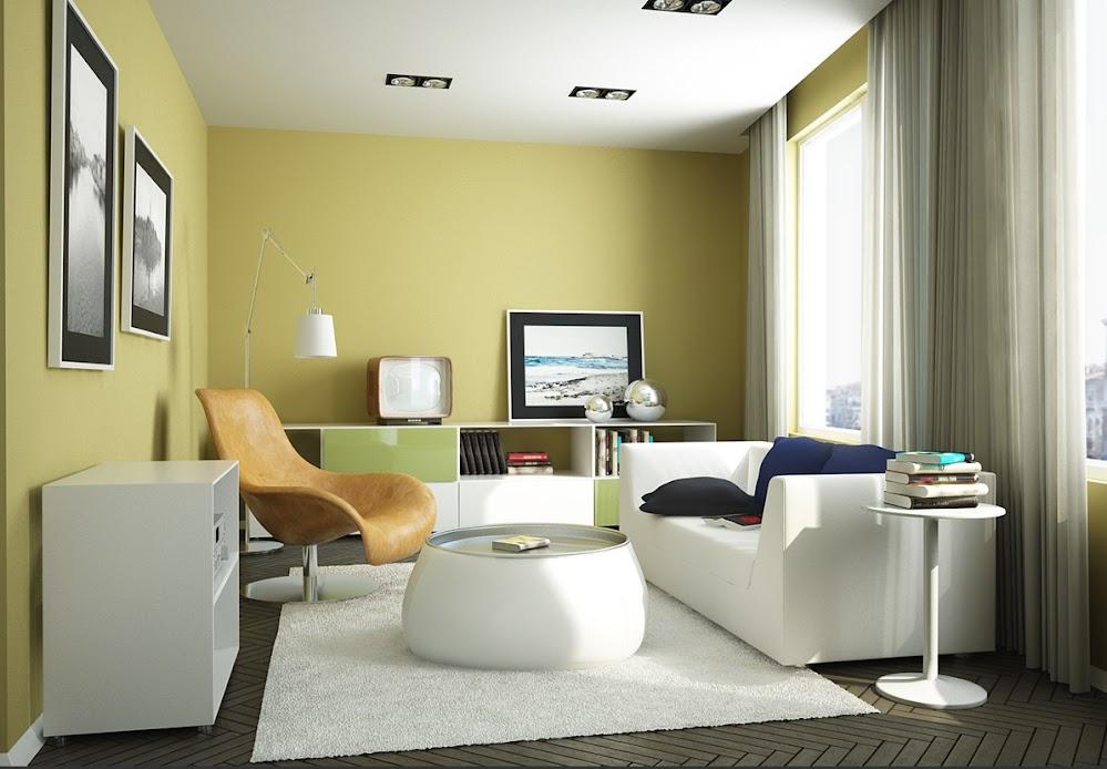 Yellow-green-Living-Room