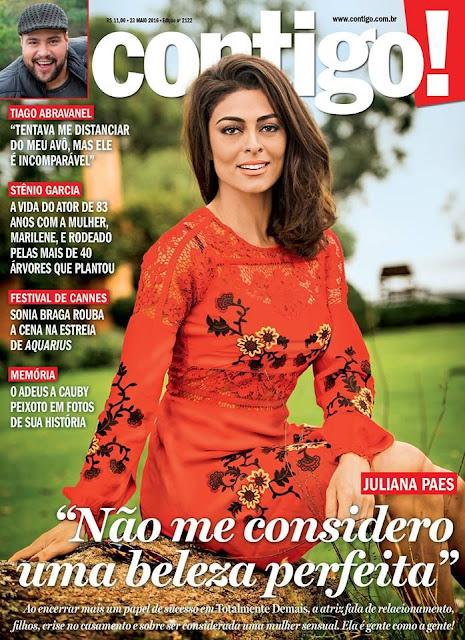 Actress, Model, @ Juliana Paes - Contigo! Magazine Brazil,  May 2016