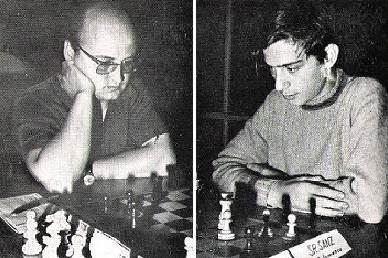 Los ajedrecistas Vicente Andrés Gimeno y Javier Sanz