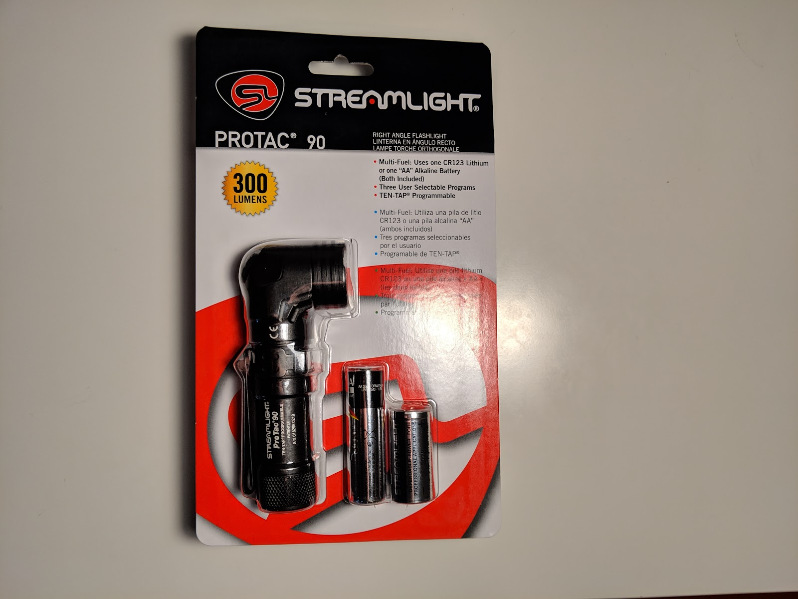 Review] Streamlight ProTac 90 (Right angle, 1xAA or 1xCR123A