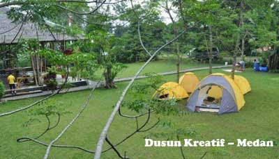 tempat camping dusun kreatif di medan