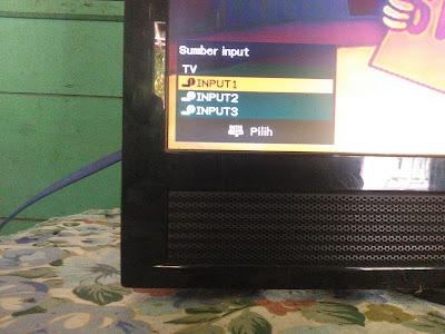 Setting TV Sobat ke Mode HDMI dan tunggu sebentar.