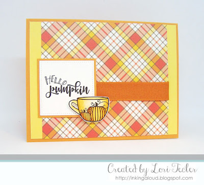 Hello Pumpkin card-designed by Lori Tecler/Inking Aloud-digital images from Verve Stamps