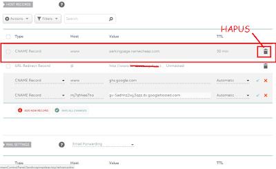 Cara Setting Domain NameCheap ke Blogger Terbaru
