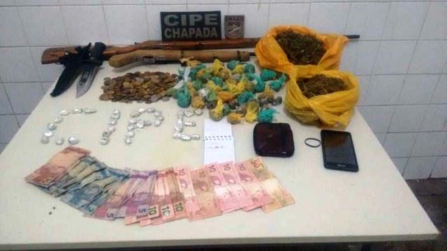 Quadrilha de traficantes é desarticulada pela polícia no município de Wagner