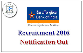 Bank of India Notification Out: