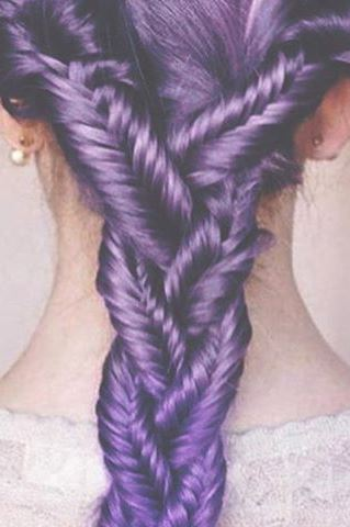 purple hair trend
