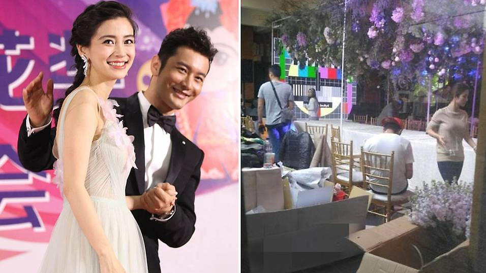 Huang Xiaoming throws intimate birthday party for Angelababy