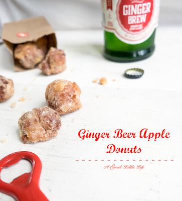 Ginger Beer Apple Donuts
