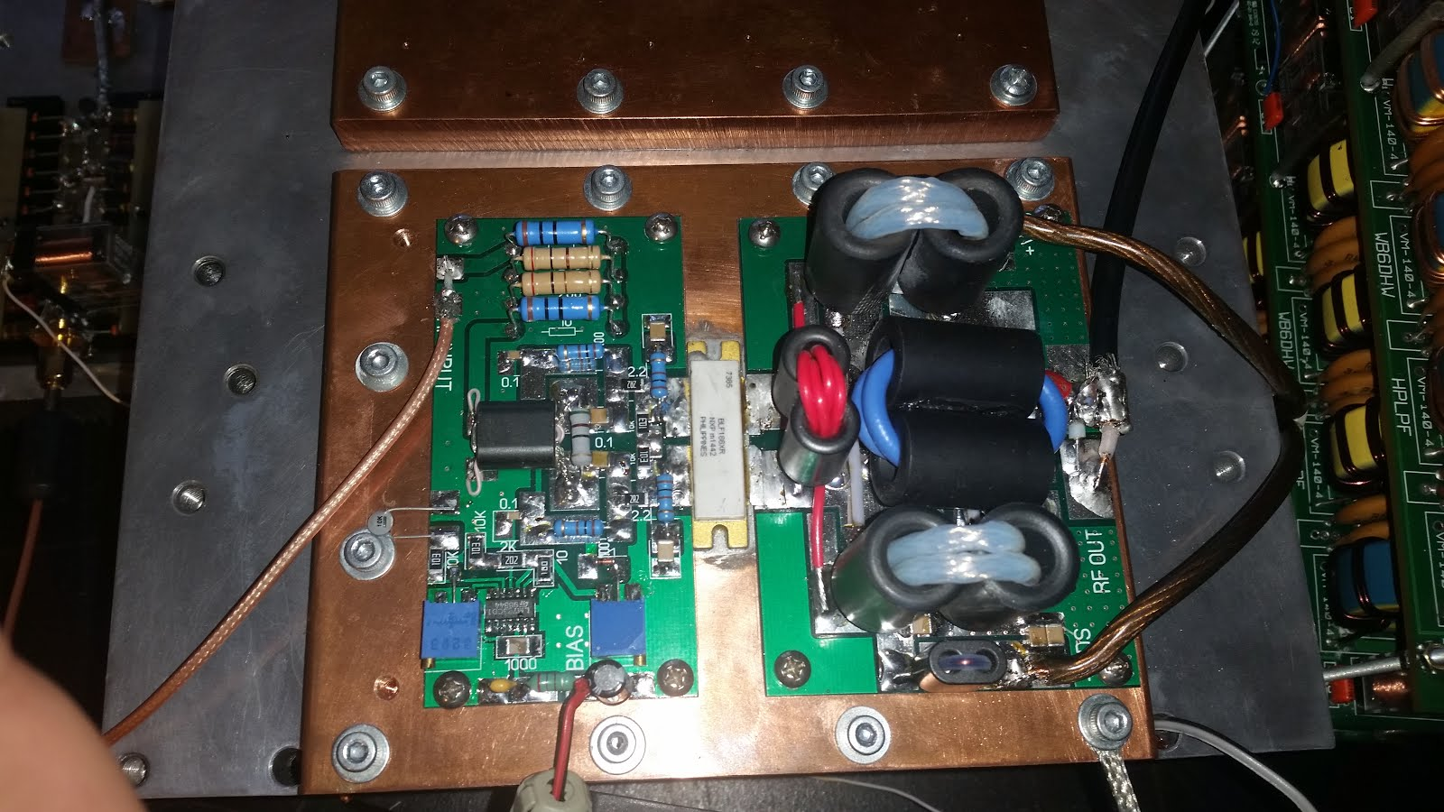 Solid state Linear Amplifier project: BLF188XR HF Amplfier Project
