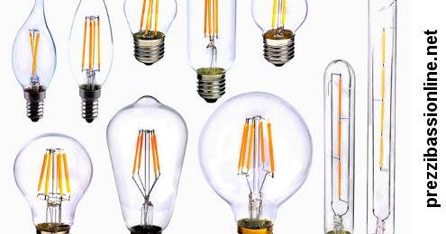Lampadine con filamento led prezzi migliori for Dove comprare lampadine led online