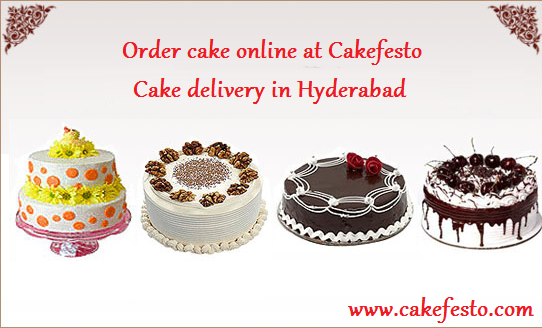 Order cake online at Cakefesto – Online Cake delivery in Hyderabad