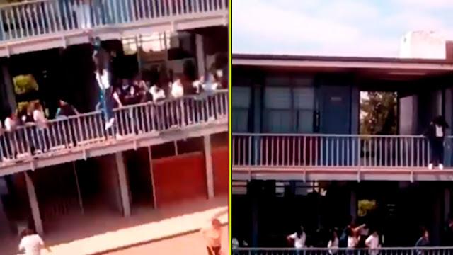 Estudiante de secundaria se arroja al vacío desde segundo piso