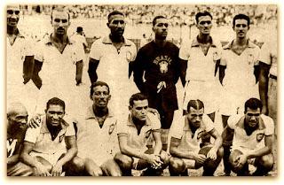 Tesourinha com a Seleção Brasileira na Copa América de 1949