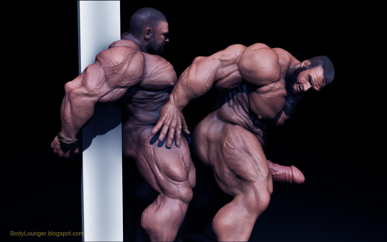 Muscled captor cums