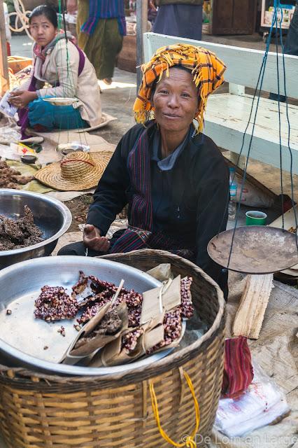 Marché de Nampan - Lac Inle - Birmanie Myanmar