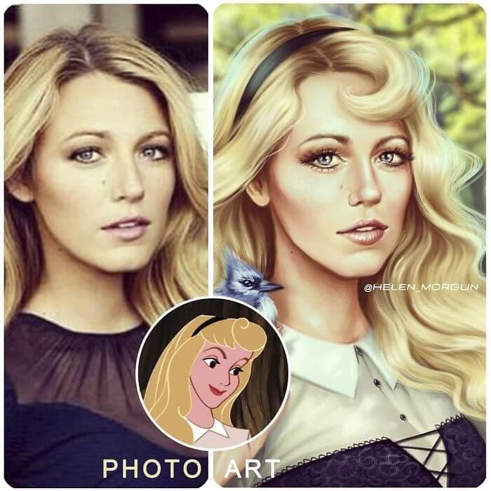 16-Blake-Lively-As-Aurora-Helen-Morgun-Celebrities-and-Disney-www-designstack-co