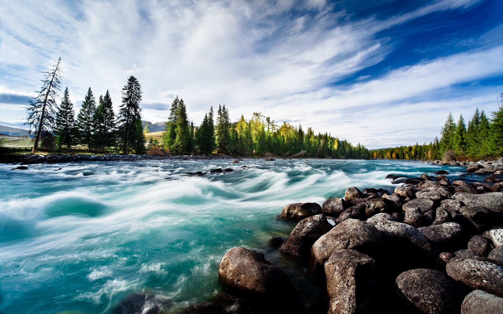 Fondo de pantalla paisajes efecto del agua del rio hdr for Buscar fondos de escritorio