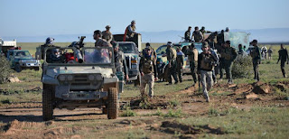 pro-regime fighters in Syria's Afrin