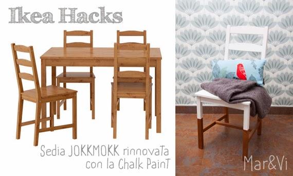 Mar Vi Blog Ikea Hacks Sedia Jokkmokk Rinnovata Con Chalk Paint