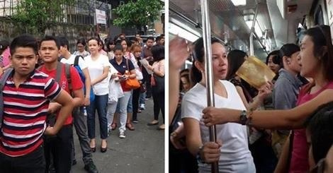 Grace Poe Rode the MRT