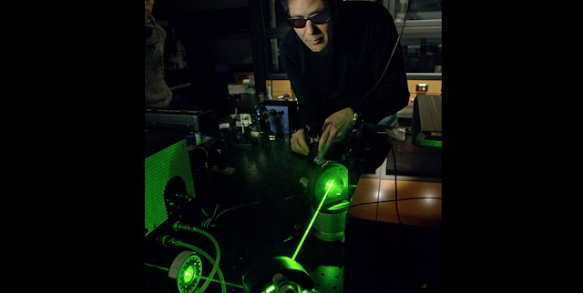 Marcos Dantus, University Distinguished Professor in chemistry and physics, has recreated interstellar ions with lasers. Courtesy of MSU