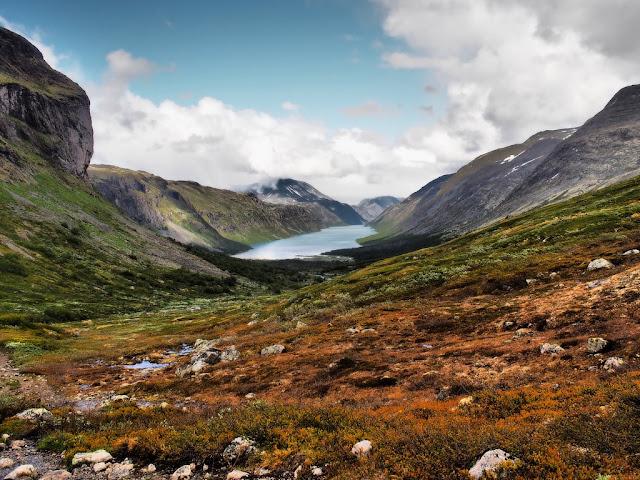 Gjende, příroda, Norsko, Jotunheimen, kameny, nádhera