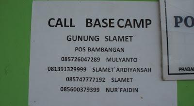 Contact Person Jalur Pendakian Gunung di Indonesia