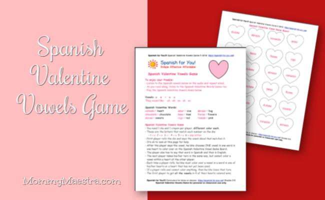 Mommy Maestra Free Download Spanish Valentine Vowels Game