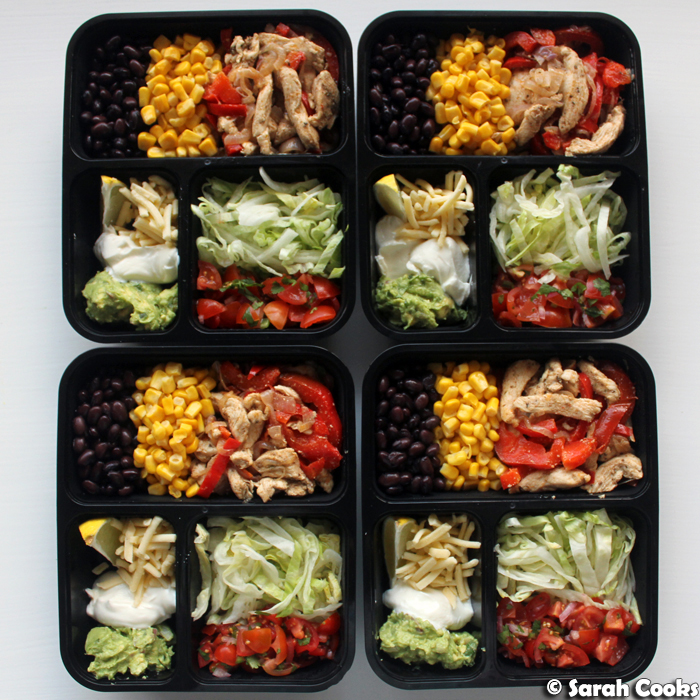 Chicken Fajita Bowl Meal Prep