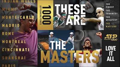 ATP Masters 1000 2019 Calendar: All Nine Tournaments Schedule dates, most wins, Records, Stats.