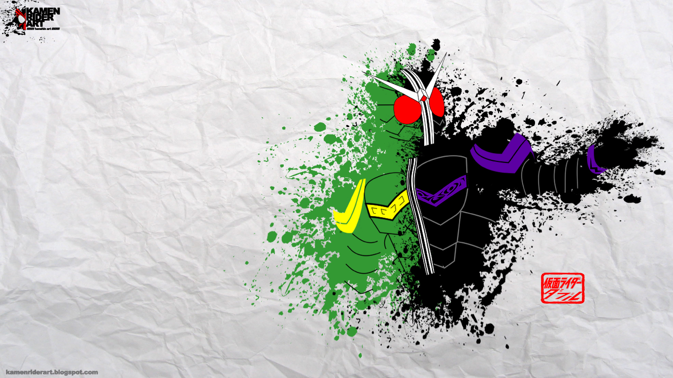 kamen rider art: Kamen rider W Wallpaper