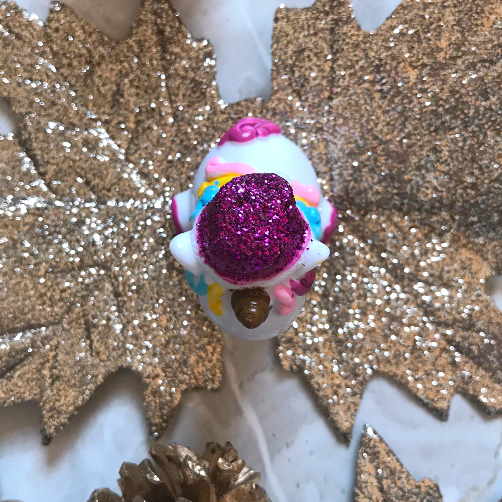 christmas unicorn lip balm